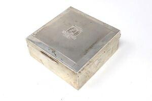 Beautiful Antique Art Deco Solid Silver Nice Condition Cigarette Box 180g #30229