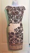 Adrianna Papell Petite Women's Size 10 P Floral Sleeveless Dress Career