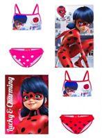 Costume da bagno bambina bikini di Ladybug telo mare 4 5 6 8 anni bimba disney
