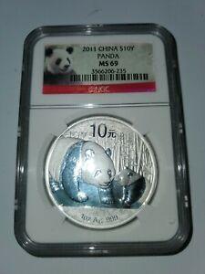 2011 China S10Y Panda MS-69 NGC