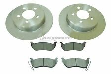 JEEP CHEROKEE 2.5 2.8 CRD 3.7 2001-2007 REAR 2 BRAKE DISCS AND PADS SET NEW
