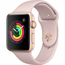 NEW Apple Watch Series 3 38mm GPS Gold Aluminum Case with Pink Sand Sport Band