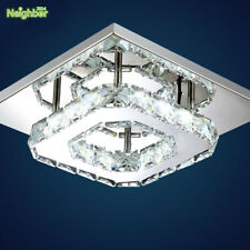 Modern 12W LED Ceiling Light Crystal Hallway Lamps Porch Lighting Clear Amber