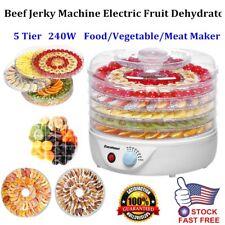 5 Tray Electric FOOD DEHYDRATOR Beef Jerky Snack Machine Fruit Dryer Meat Maker