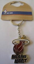 NBA MIAMI HEAT CREST KEYRING [ OFFICIAL LICENCED PRODUCT ]