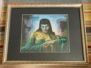 ORIGINAL RARE Tretchikoff Lady From Orient 1969 - Large Framed Vintage Art Print