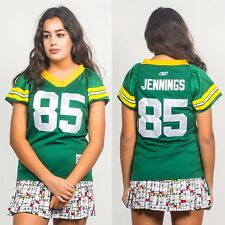 Années 90 Vintage Green Bay Packers AMERICAN FOOTBALL NFL Jersey strass col v 6 8