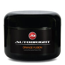 Autobright Carnauba Paste Wax Orange Fusion Free Soft Foam Applicator 250ml.