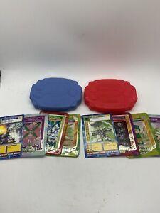 Digimon - 6 Taco Bell Promo Tin Metal Cards Lot w/ 2 Case