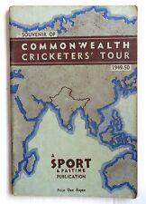 West Indies Cricket Tour of India souvenir / programme 1949-50