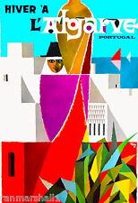 Portugal Hiver 'a Vintage Portugese European Travel Advertisement Art Poster