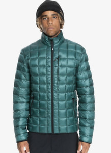 2021 NWT QUIKSILVER MENS RELEASE PUFFER DOWN JACKET L June Bug puffy insulated