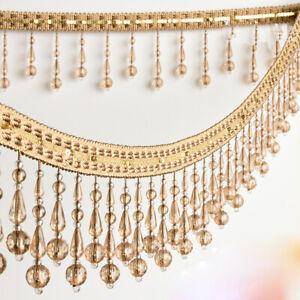 1M Kristall Perlen Vorhang Fransen Rand Polster Basteln Nähen Material Rand
