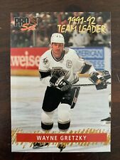 1992-93 Pro Set Gold Team Leaders #6 Wayne Gretzky - Los Angeles Kings - Rare