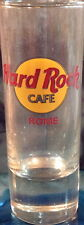 "Hard Rock Cafe Rome 4"" Shot Glass Classic Hrc Logo with Red Text Barware"