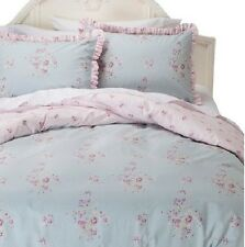 Rachel Ashwell Simply Shabby Chic Twin FADED PAPER ROSE Duvet Cover Set Pink~BN