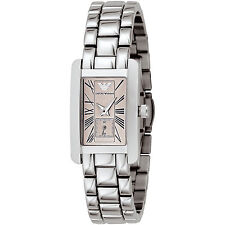 Emporio Armani Silver/Peach Quartz Analog Women's Watch AR0172