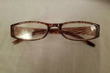 Redireaders By MAGNAVISION Women's Brown Striped Reading Glasses +150