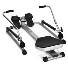 Exercise Rowing Machine Rower w/Adjustable Double Hydraulic Resistance Home Gym