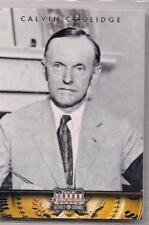 2012 Panini Americana Heroes & Legends Calvin Coolidge