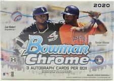 2020 Bowman Chrome бейсбол Hta Jumbo коробка 1 упаковок коробка 3 автограф карты в упаковке