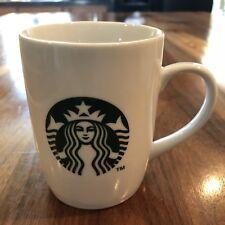 2013 Starbucks Coffee Mug Cup Siren Logo Mermaid White Ceramic 10 oz.