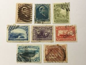 old stamps   NEWFOUNDLAND    x  8