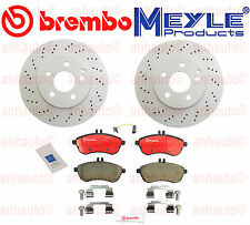 Mercedes  C300 Sport Sedan Brembo Meyle Front Brake KIT Rotors Pads Sensor
