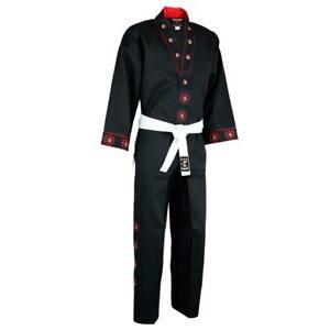 Diamant Stoff V Ausschnitt Kampfsport Uniform Taekwondo Demo Team Freistil Anzug