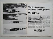 8/72 PUB GOODYEAR LGDM AIR FORCE LASER GUIDED DISPENSER MUNITION F-4 PHANTOM AD
