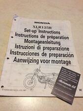 Honda XLR125R XLR 125 R W XLR125RW instructions de préparation set-up