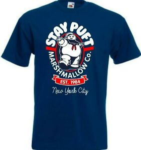 Ghostbusters STAY PUFT Marshmallow Man New York City 1984 80s Movie T-Shirt