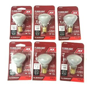 ACE Hardware 3019825 40 Watt R14 E17 185 Lumen Floodlight Bulb 6 Pack SEALED