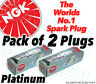 2 X Nuevo NGK Platino Bujías - Pieza N.º Plfr5a-11 Stock N.º 6240 2 Unidades