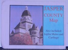 2001 Promotional Street Map of Jasper County, Missouri with Local Advertising