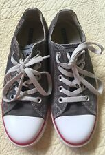 CONVERSE ALL STAR CUSTOM SNEAKERS, Grayish. Hand Heart Music/Flowers  W-6, M-4