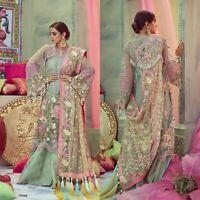 Pakistani Crimson Designer Suit Wedding Dress 2020 EID Collection shalwar Kameez