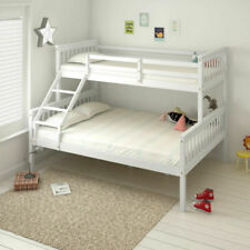 Triple Sleeper Pine Wood Bunk Bed Frame Kid Adult Bedstead Bedroom Furniture UK