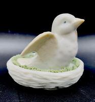 "Vtg Frankenmuth Gallery Michigan Dove In Nest Miniature Figurine USA 3""L 2.5""H"