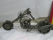 Steampunk Metal Scrap Motorcycle HEAVY awesome wheels turn 19 Man Cave