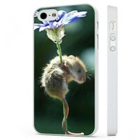 Cute Mouse Flower Nature WHITE PHONE CASE COVER fits iPHONE