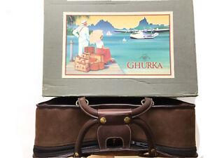 Vintage Ghurka Marley Hodgson No. 51 Traveler 1 Sueded Leather Luggage Bag RARE
