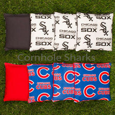 Cornhole Bean Bags Set of 8 ACA Regulation Bags Chicago Cubs vs White Sox