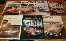 1973 1974 1975 1976 1977 1978 1979 Ford Ranchero Sales Brochure Lot of 7