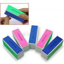 5X Nail Art Manicure 4 Way Shiner Buffer Buffing Block Sanding File Polish Tool