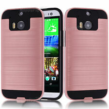 Shockproof Phone Case Rubber Protection Back Hard Cover Case Skin For HTC One M8