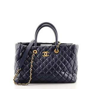 Chanel Coco Handle Shopping Tote Quilted Aged Calfskin Medium