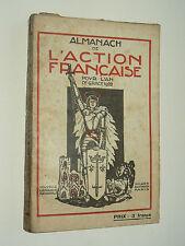 Livre Politique Almanach de L'Action Française 1922 dessin S Sauvage & J Sennep