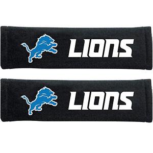 NEW Detroit Lions Seat Belt Pads Shoulder Protector Universal Size - Set of 2