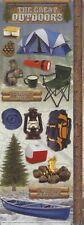 """Scrapbooking Stickers Cardstock Paper House 13"""" Camping"""